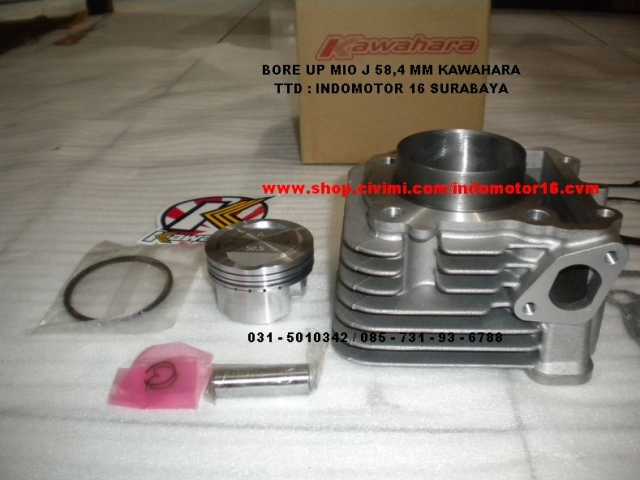 bore up mio j kawahara 58 5 mm new idr 735 000 00 nego bore up mio j